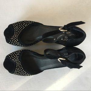 Jeffrey Campbell Shoes - RARE Jeffrey Campbell x LF studded peeptoe heel 10